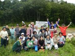 遠野為朝集落のオーガニックコットン畑の草取りも完了です。