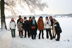 真冬のメーラレン湖にて