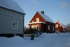 雪化粧のスウェーデンハウス