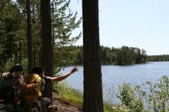 ヴェーショー自然保護区の原生林の中で自然体験