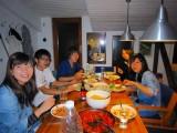 キッチン付宿泊先で料理と食事