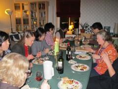 スウェーデンのお宅訪問夕食会